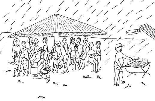 F Rondavel in the Rain 3