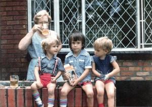 Leon, Brad and Vicki with Nanny (my mum Nancy).