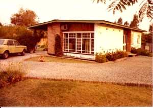 View of the front of the Little House, which was home for our first two months in Kitwe.