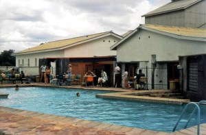 Kitwe Little Theatre swimming pool. The shallow end is on the left.