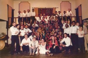 Part of the cast of the Olde Time Music Hall, October 1983. Just look at that brazen bint in the centre!!