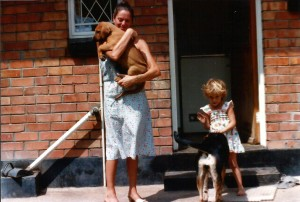 Bass at 8 weeks old. Yes, I did say EIGHT weeks!! And Vicki with Sally.