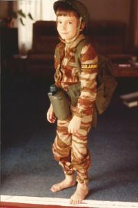Private Brad, US Army. Christmas 1983.