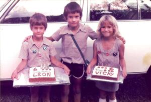 Vicki and Leon's sixth birthday cakes, to share with classmates at Lechwe Primary.