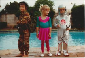 Christmas dress-ups. 1983.