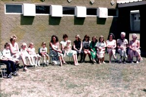 Interested parties at Leon's Prize Giving. Richard Coote's legs, Brad, Leon's teacher who's name escapes me, Sarah, Vicki, Leon, Me, Karen with Christopher, Lynne Quarmby, her neice Charlotte, in green I don't know, Lynn's step-daughter Hilary with Lynn's daughter Laura, Jane Hales and my Dad and Mum.